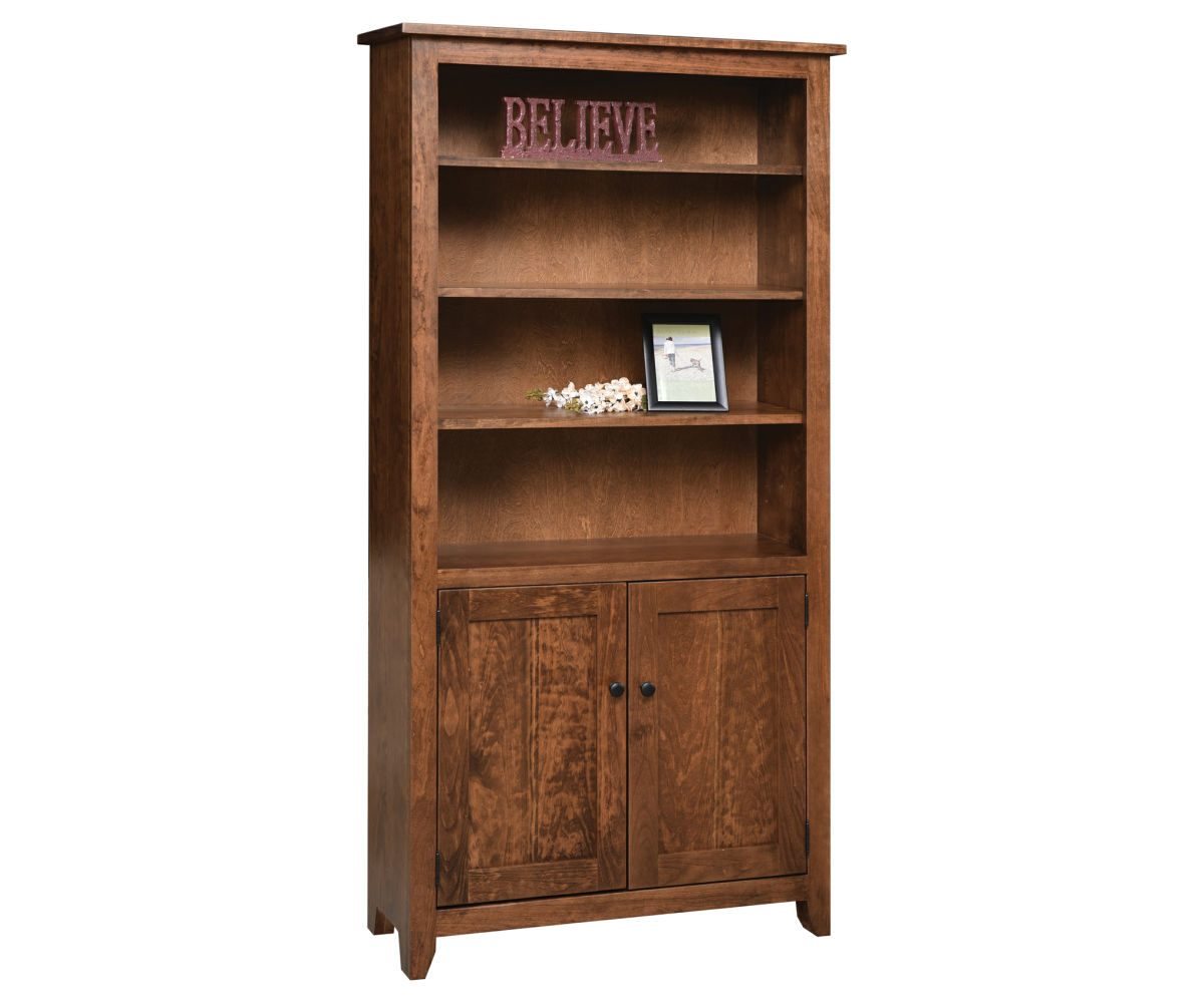 Amish made solid wood bookcase